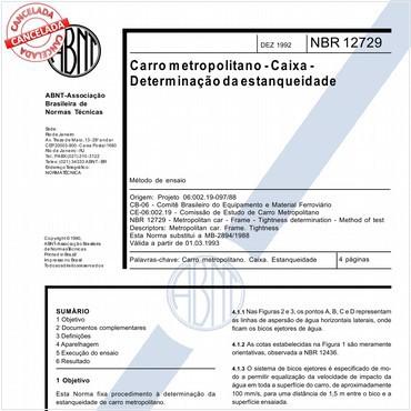 NBR12729 de 12/1992