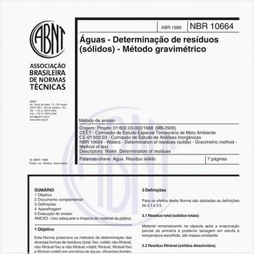 NBR10664 de 04/1989
