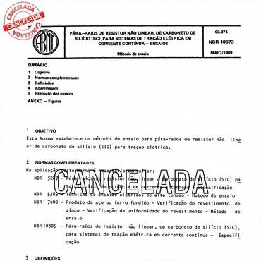 NBR10673 de 05/1989