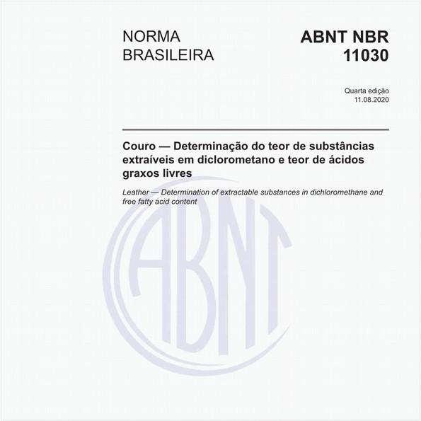 Couro — Determinação de substâncias extraíveis em diclorometano