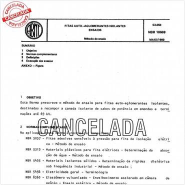 NBR10669 de 05/1989