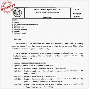NBR5004 de 10/1981