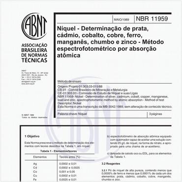 NBR11959 de 05/1989