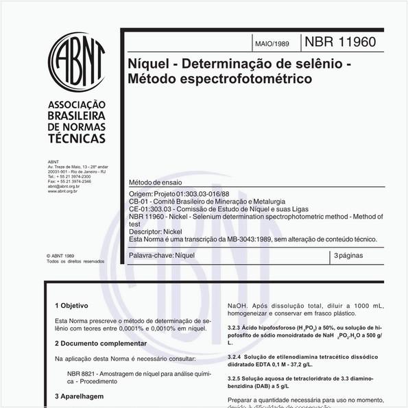 NBR11960 de 05/1989