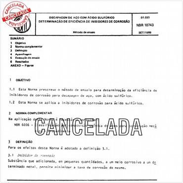 NBR10743 de 09/1989
