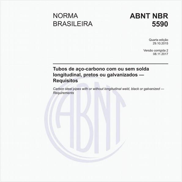 Tubos de aço-carbono com ou sem solda longitudinal, pretos ou galvanizados — Requisitos