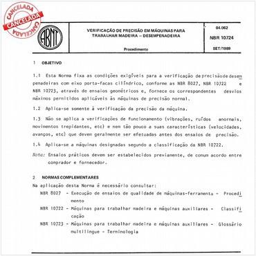 NBR10724 de 09/1989