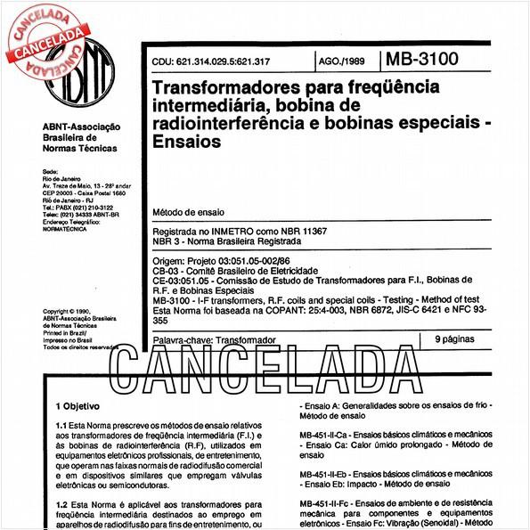 NBR11367 de 10/2012