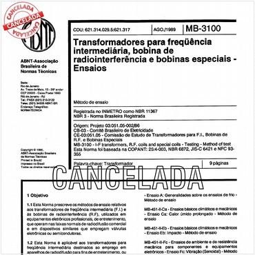 NBR11367 de 08/1989