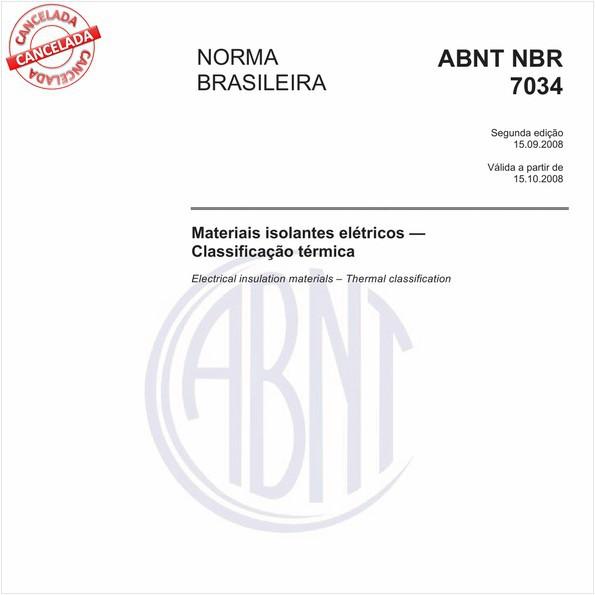 Materiais isolantes elétricos - Classificação térmica