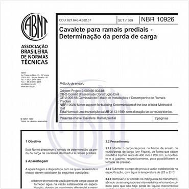 NBR10926 de 09/1989
