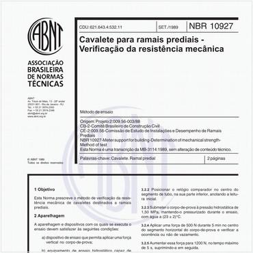 NBR10927 de 09/1989