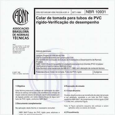 NBR10931 de 09/1989