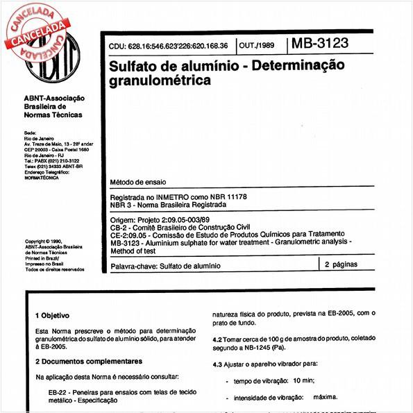 NBR11178 de 06/2013