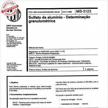 NBR11178 de 10/1989