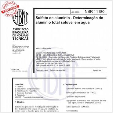 NBR11180 de 07/1990