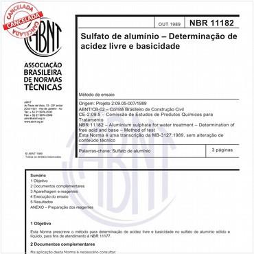 NBR11182 de 10/1989