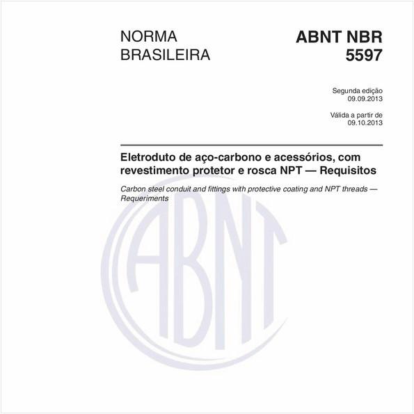 Eletroduto de aço-carbono e acessórios, com revestimento protetor e rosca NPT — Requisitos