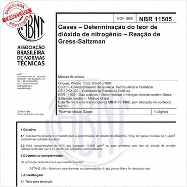 NBR11505 de 11/1989
