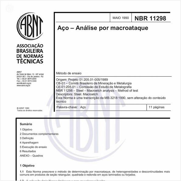 Aço - Análise por macroataque - Método de ensaio