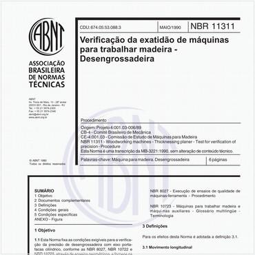 NBR11311 de 05/1990