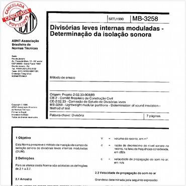 NBR11677 de 09/1990