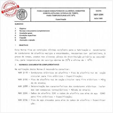 NBR5284 de 11/1981
