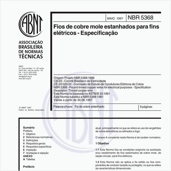 NBR5368 de 05/1997
