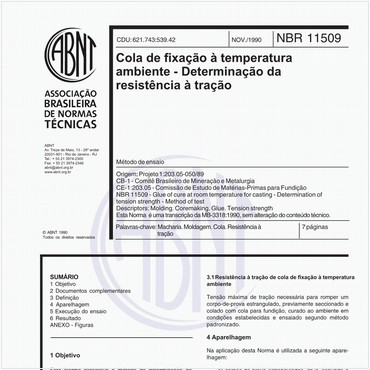 NBR11509 de 11/1990