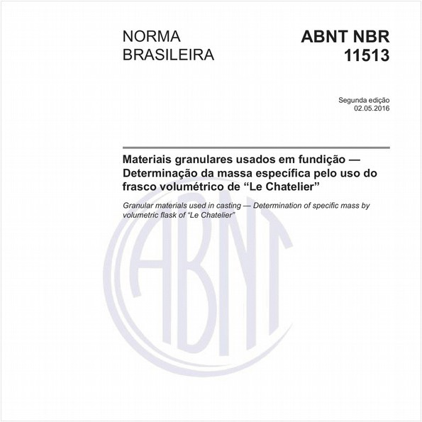 NBR11513 de 05/2016