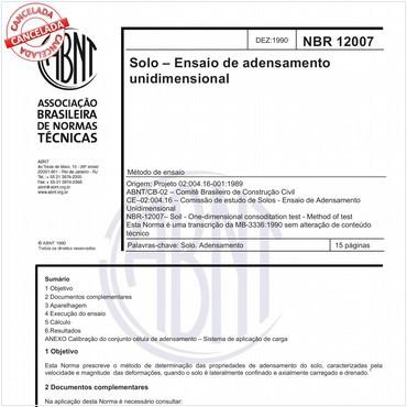 NBR12007 de 12/1990