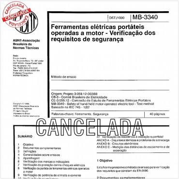 NBR12009 de 12/1990