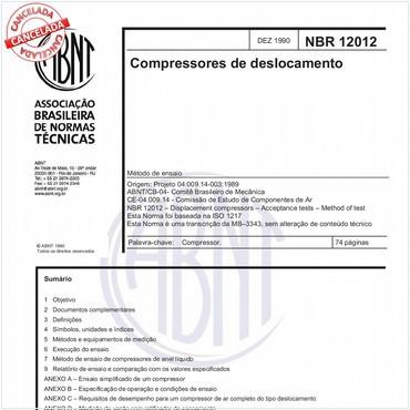 NBR12012 de 12/1990