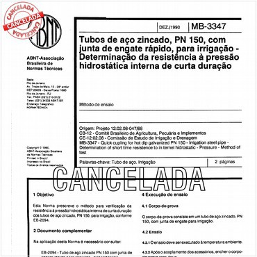 NBR12016 de 12/1990