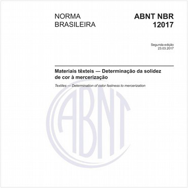 NBR12017 de 03/2017