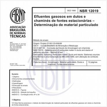 NBR12019 de 12/1990