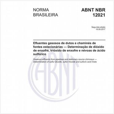 NBR12021 de 09/2017