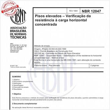NBR12047 de 02/1991