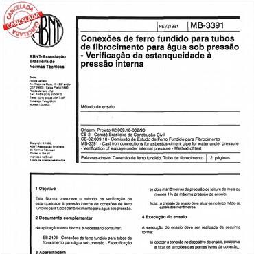 NBR12054 de 02/1991