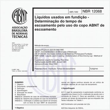 NBR12068 de 04/1992