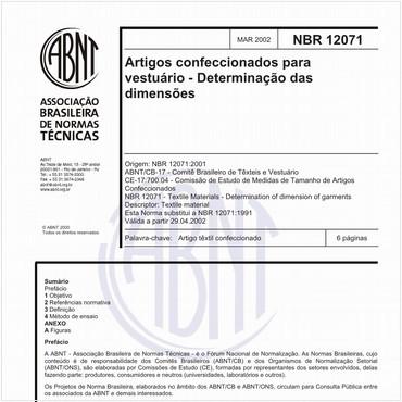 NBR12071 de 03/2002