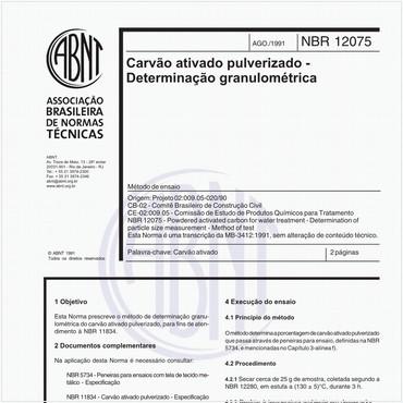 NBR12075 de 08/1991