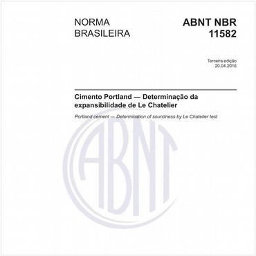 NBR11582 de 04/2016