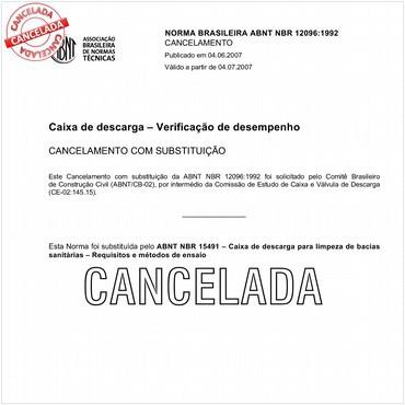 NBR12096 de 04/1992