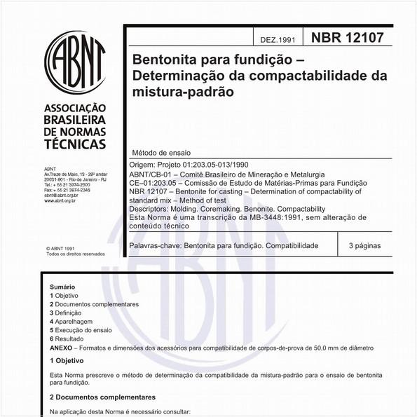 NBR12107 de 11/1991