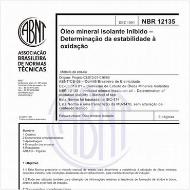 NBR12135 de 12/1991