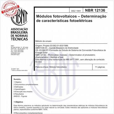 NBR12136 de 12/1991