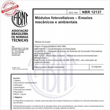 NBR12137 de 12/1991