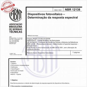 NBR12138 de 12/1991