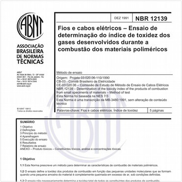 NBR12139 de 12/1991
